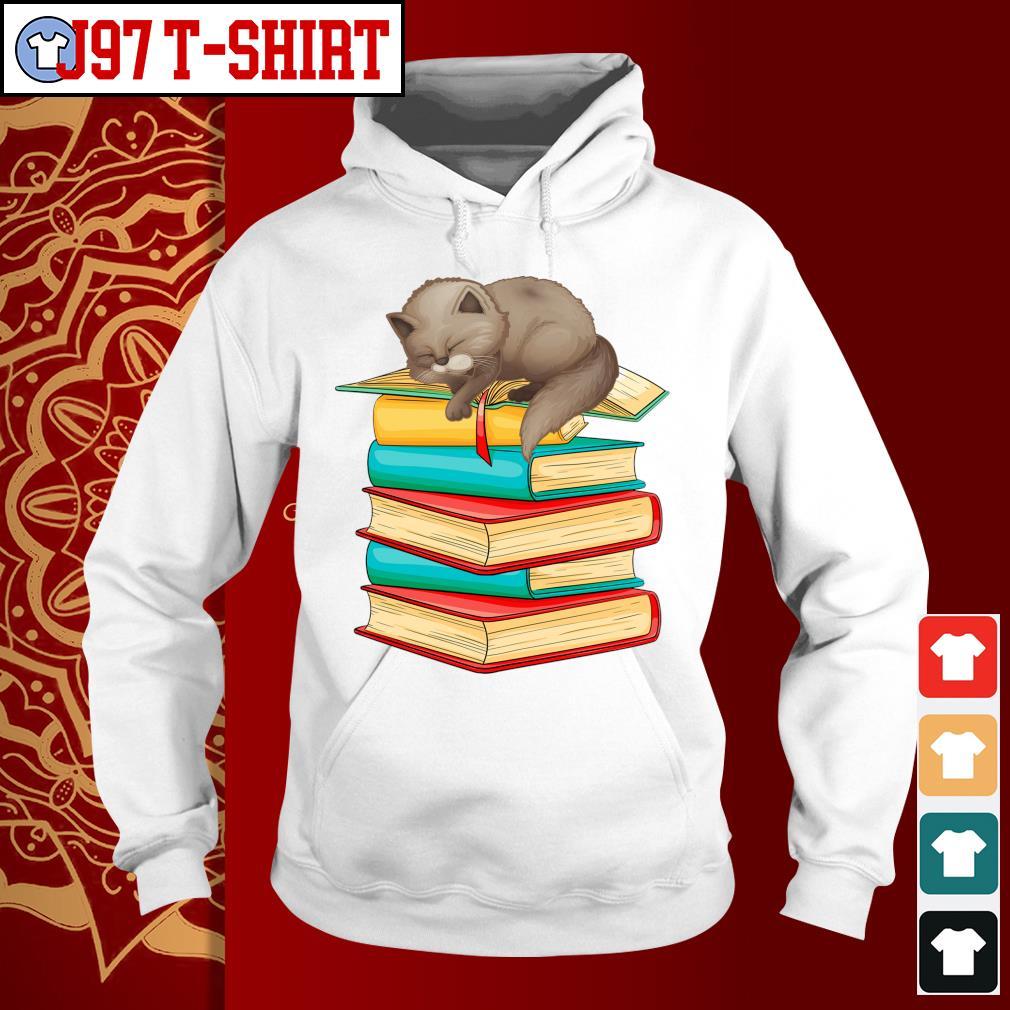 Cats sleep with books s Hoodie