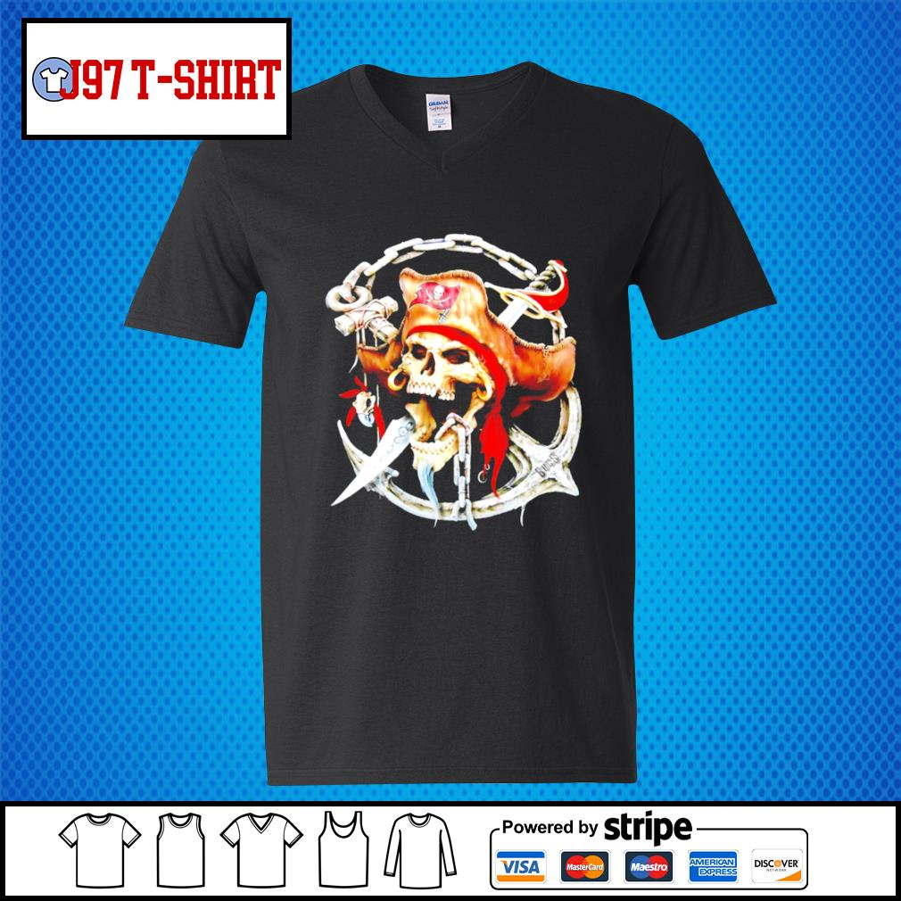 Pirates Skull Tampa Bay Buccaneers s V-neck-T-shirt