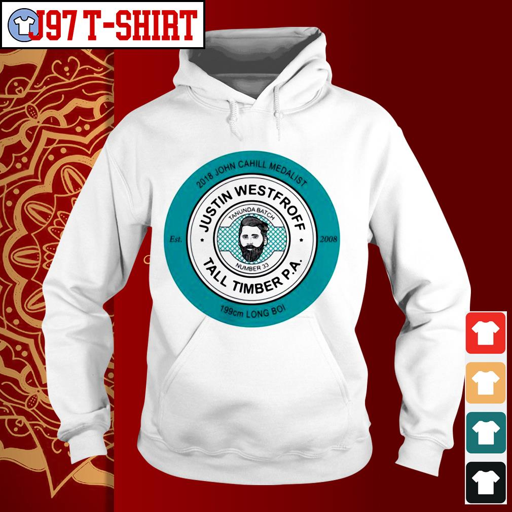 2018 John Cahill Medalist Justin Westhoff tall timber P.A 199 cm Long Boi Hoodie