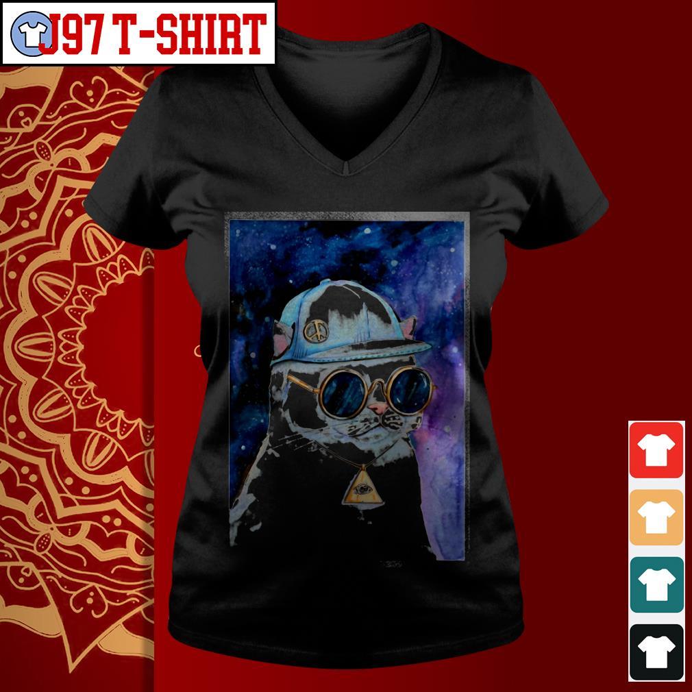 Cat Illuminati Mysteeri V-neck t-shirt