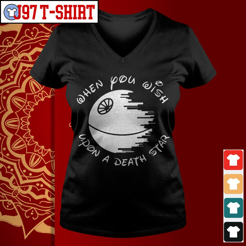 Disney when you wish upon a death Star V-neck t-shirt