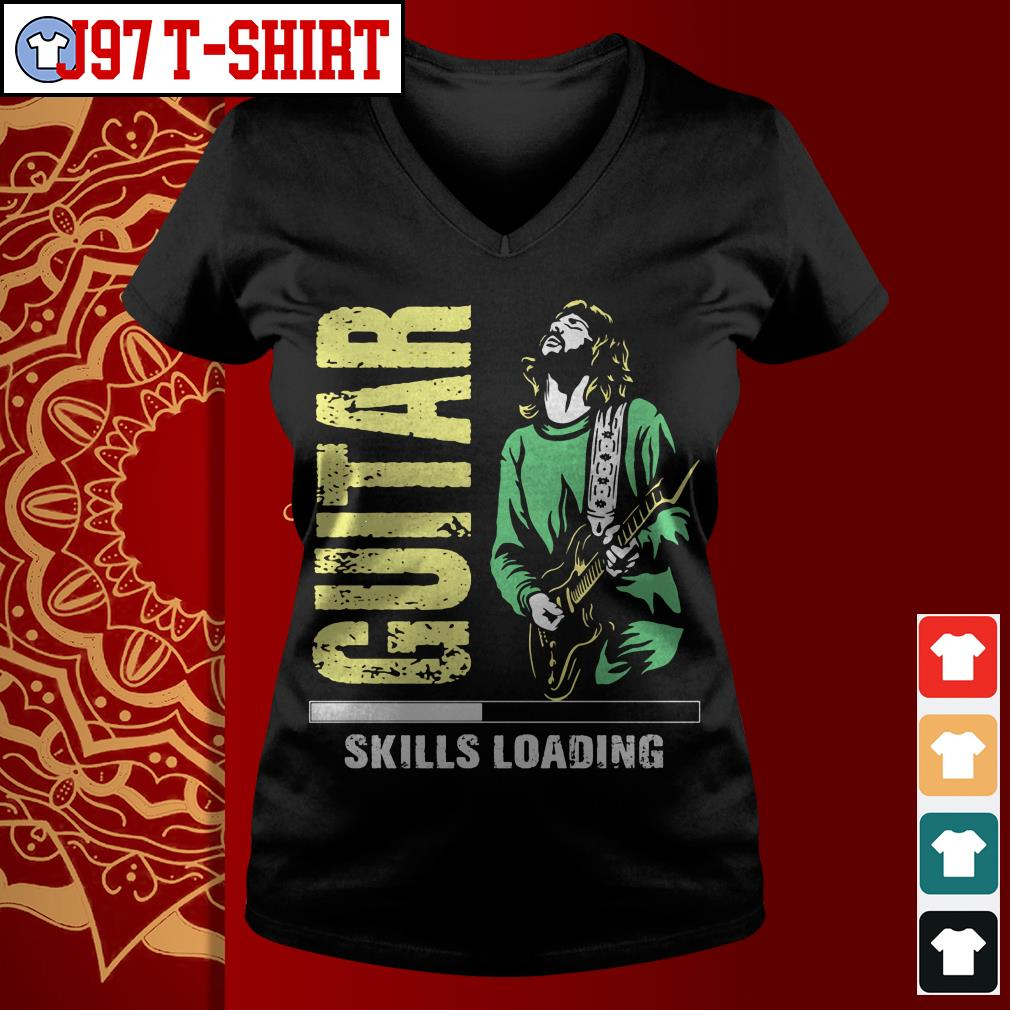 Guitar skill loading V-neck t-shirt