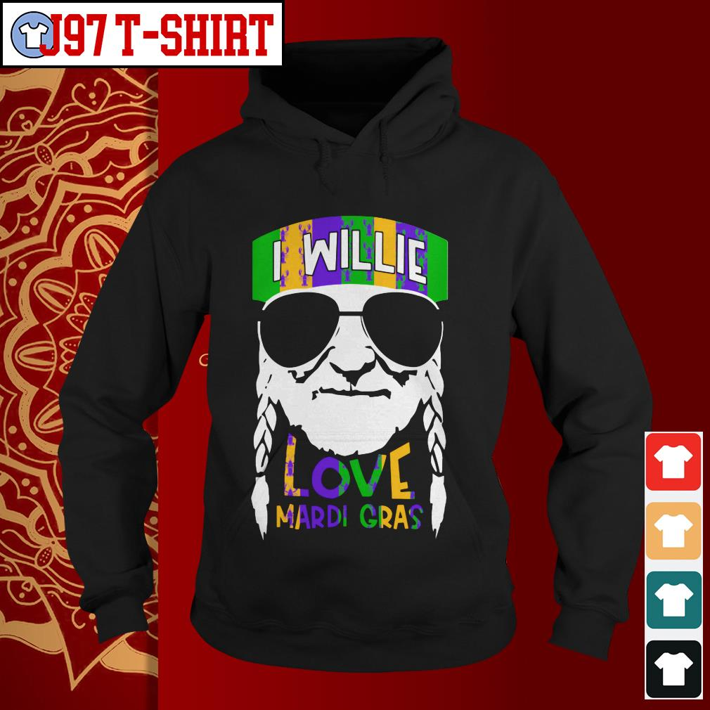 I Willie Love Mardi Gras Hoodie