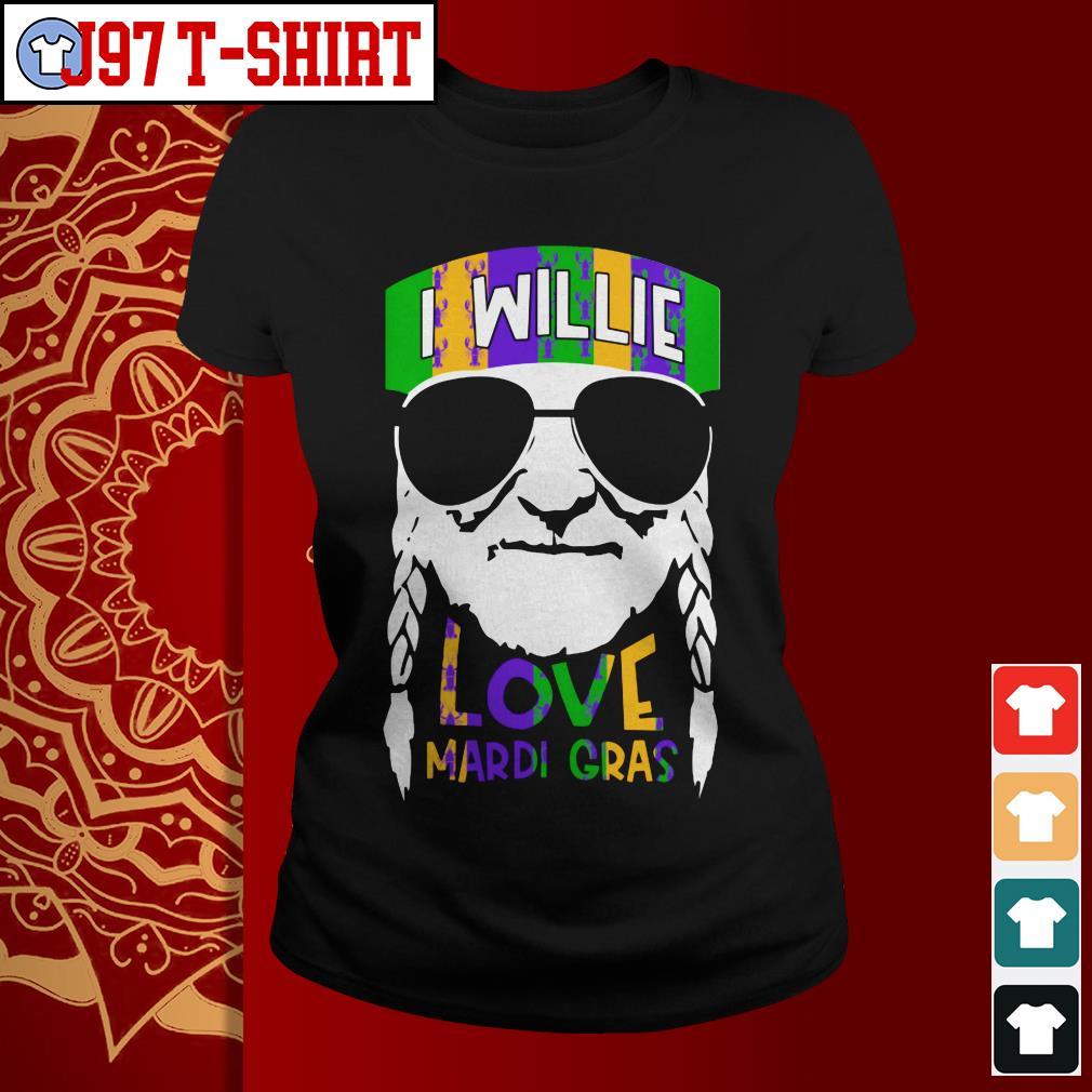 I Willie Love Mardi Gras Ladies tee
