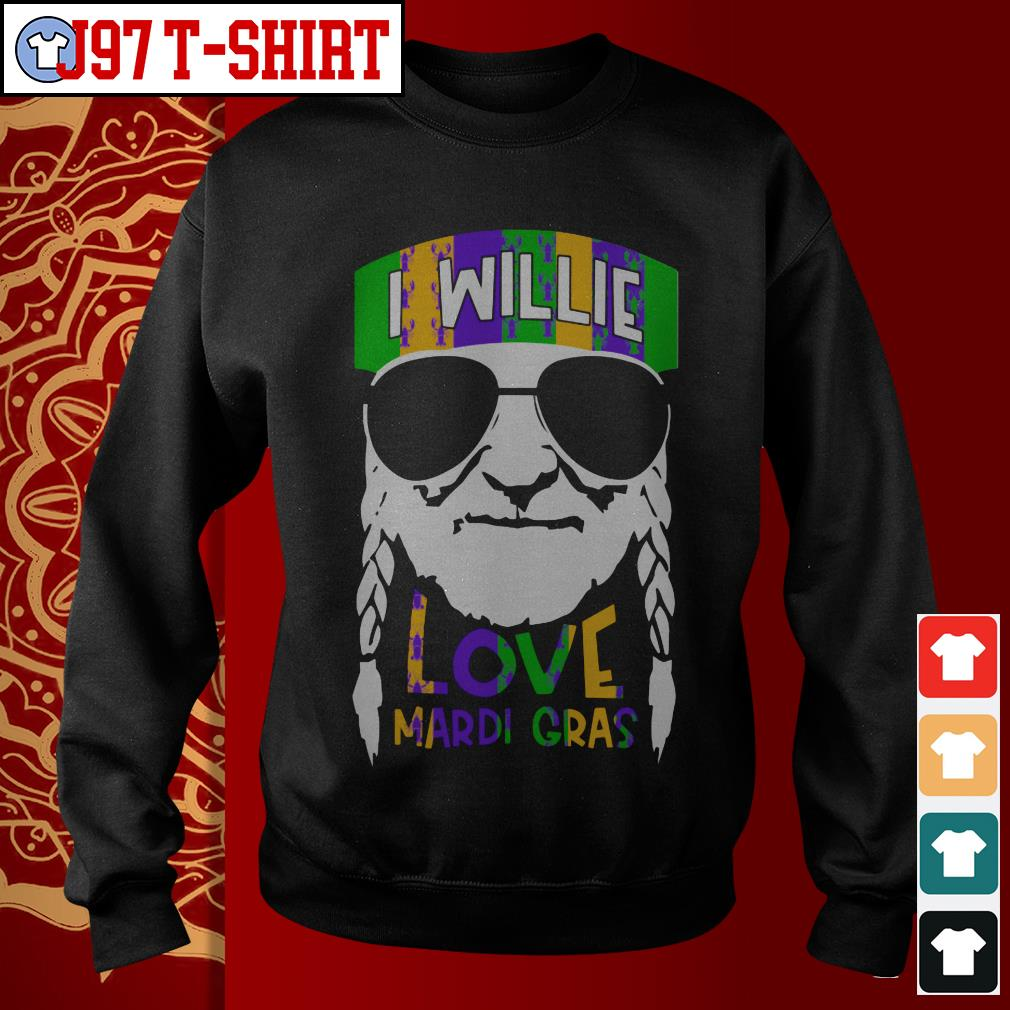 I Willie Love Mardi Gras Sweater