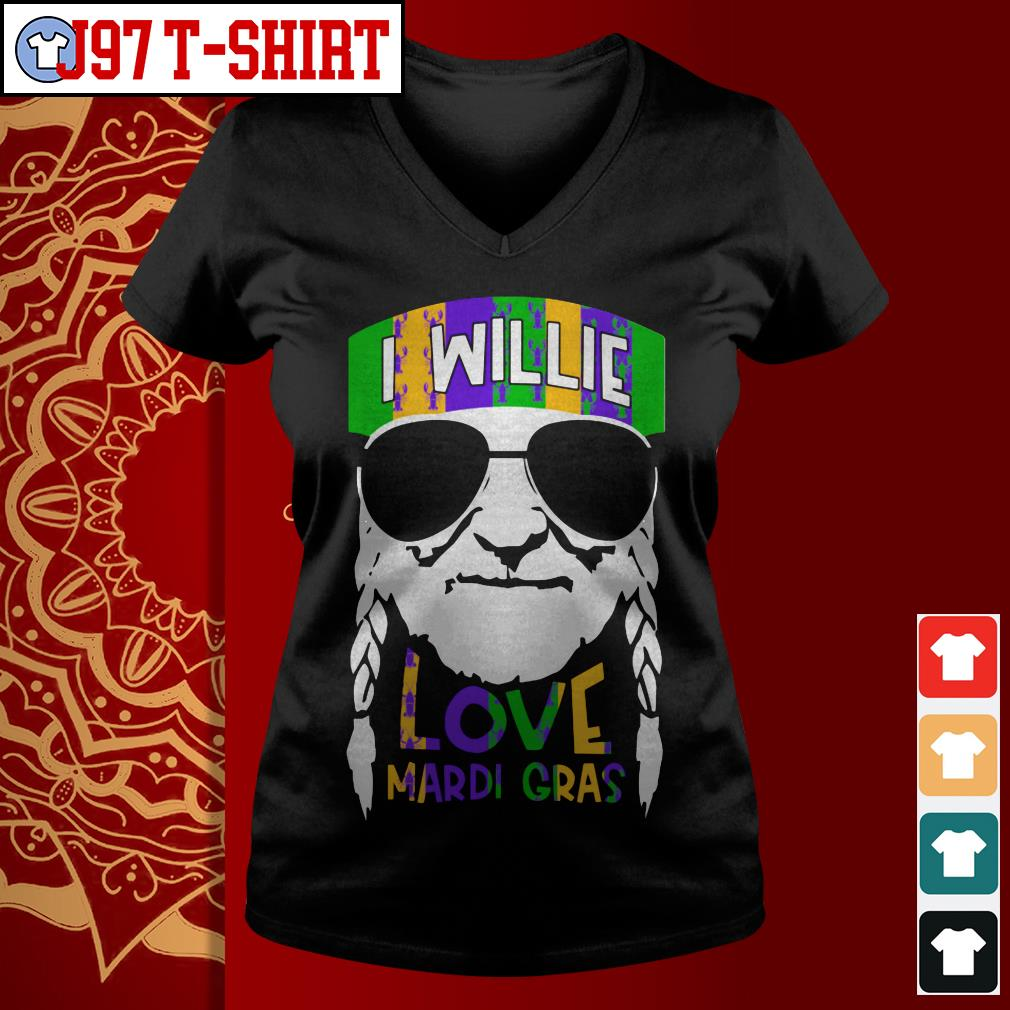I Willie Love Mardi Gras V-neck t-shirt