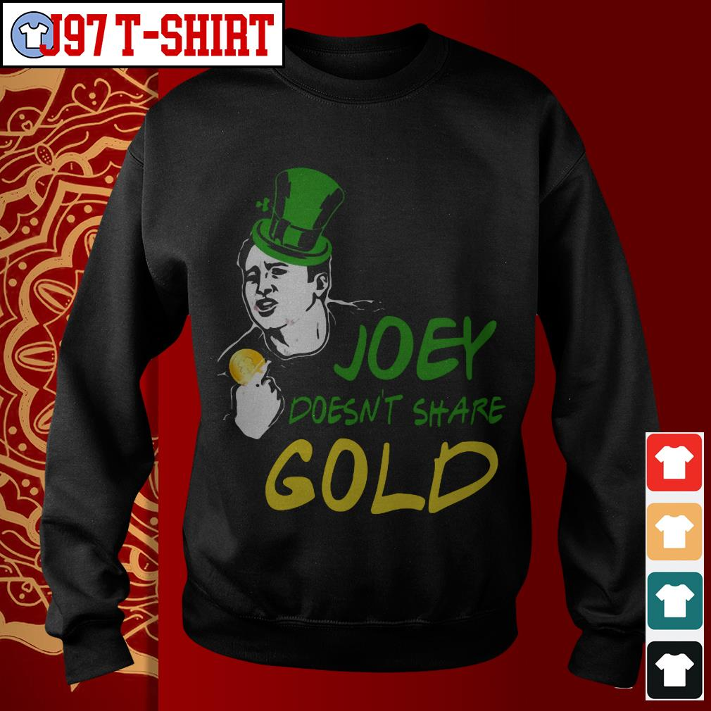 Joey doesn't share gold Sweater