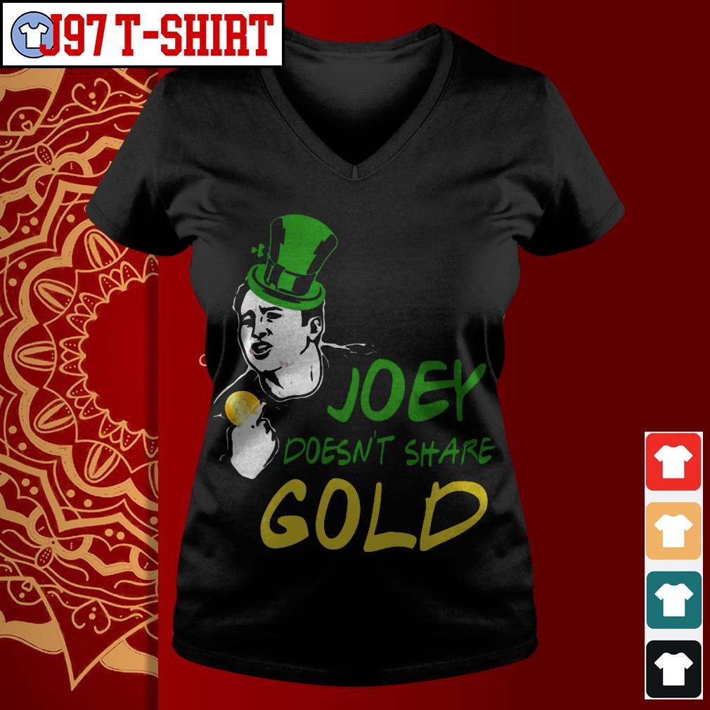 Joey doesn't share gold V-neck t-shirt