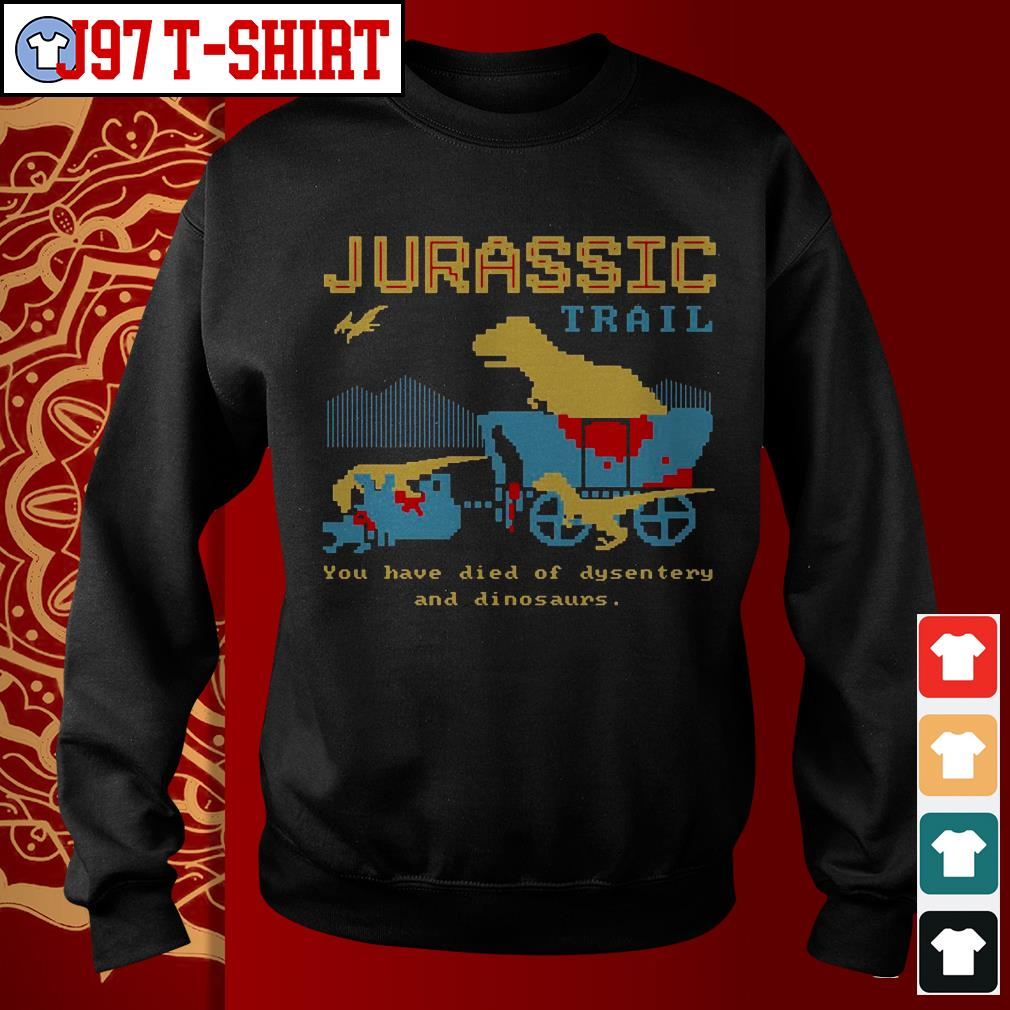 Jurassic trail you have died of dysentery and dinosaurs Sweater