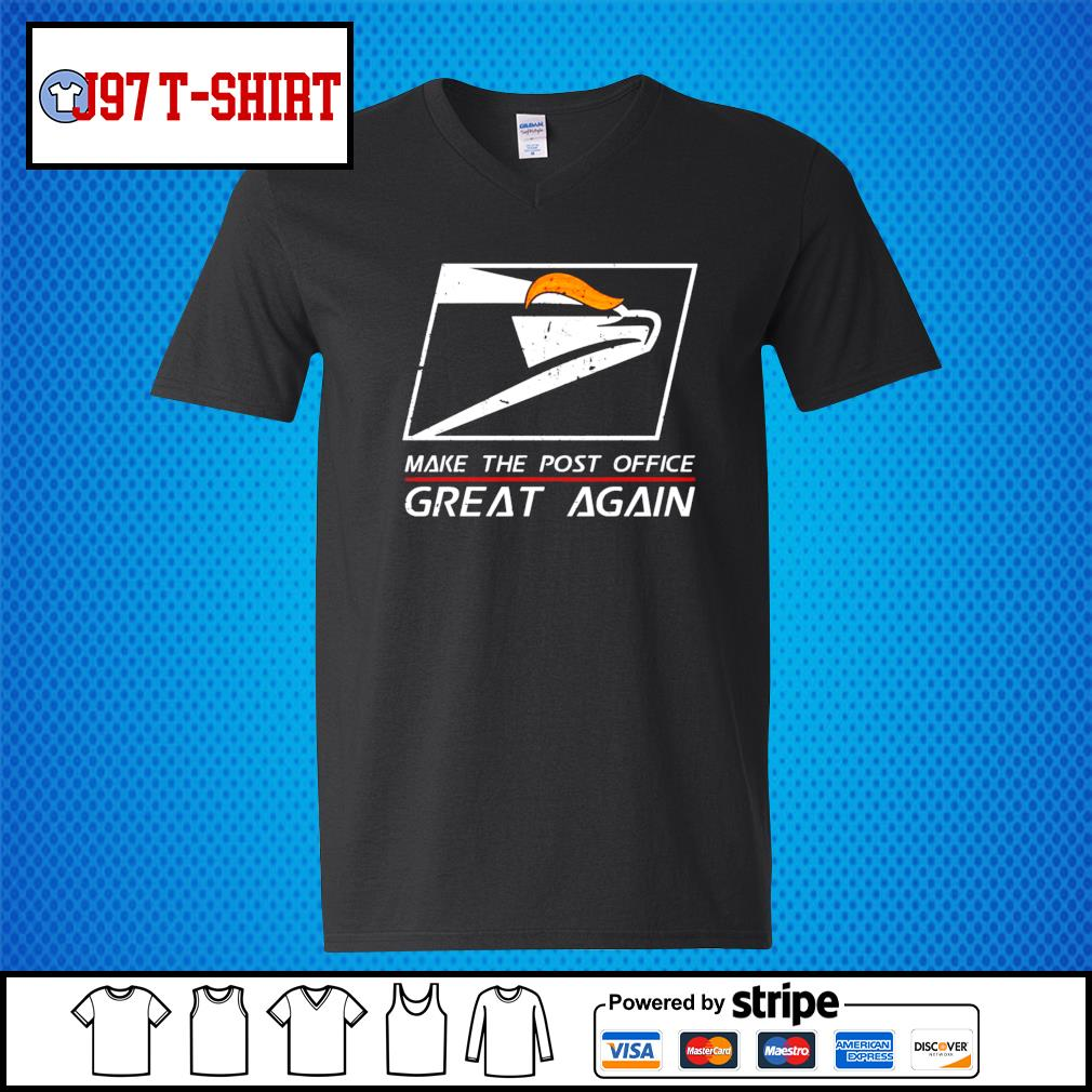 United States Postal Service Make the post office great again Trump s V-neck-T-shirt